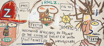 After Jean-Michel Basquiat, 'Hollywood Africans in front of the Chinese Theater with Footprints of Movie Stars', 1983/2015
