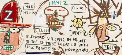 Jean-Michel Basquiat, 'Hollywood Africans in Front of the Chinese Theater', 1983/2015