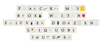 John Baldessari, 'A B C Art (Low Relief), Part II:PMBWFDLJ (Pangram)', 2010