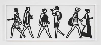 Julian Opie, 'Walking In Melbourne 5', 2018