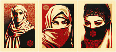 Shepard Fairey, 'Universal Personhood 1, 2, and 3', 2015