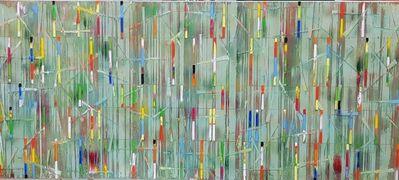 Petra Rös-Nickel, 'Türkies Stripes', 2018