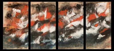 Beiren Hou, 'Red Rock Mountain (Four Panels)', 2008