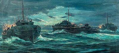 Anton Otto Fischer, 'World War II Naval Engagement', 20th Century