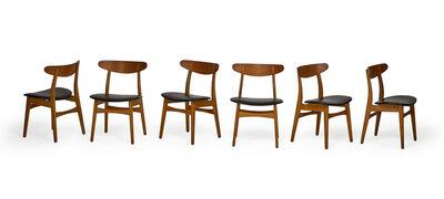 Hans Jørgensen Wegner, 'Set of six dining chairs, Denmark', 1960s