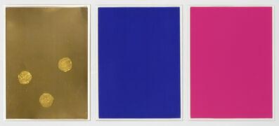 Yves Klein, 'Monochrome Und Feuer (Triptych)', 1961