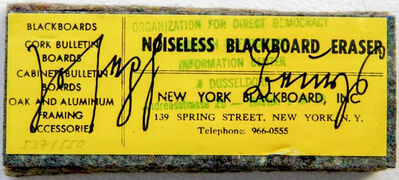 Joseph Beuys, 'Noiseless Blackboard Eraser', 1974
