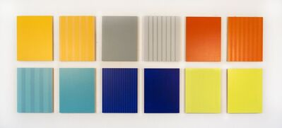 Milly Ristvedt, 'Twelve Panels, Thirty-Six Colors - colourful pairs of painted acrylic panels', 2016