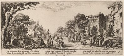 Gerrit van Schagen after Jacques Callot, 'Dying Soldiers by the Roadside'
