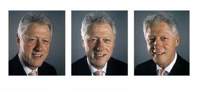 Chuck Close, 'Bill Clinton - Triptych', 2009