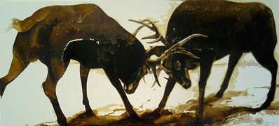 James Griffith, 'Dueling Stags', 2015