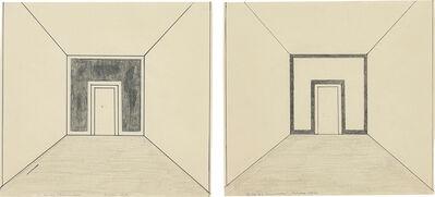 Palermo, 'Two Works: (i) Skizze für Wandmalerei; (ii) Skizze für Wandmalerei', 1969-1970