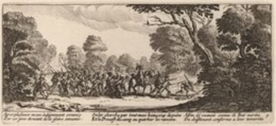Gerrit van Schagen after Jacques Callot, 'Discovery of the Criminal Soldiers'