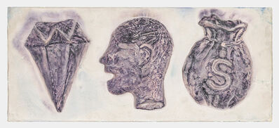 Becky Howland, 'Diamond, Severed Head, Money Bag', 1982