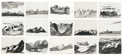 Per Kirkeby, 'Early Ink Drawings, Greenland (Suite of 15 drawings)', 1960