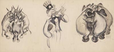 Al Hirschfeld, 'The Huddle', ca. 1930