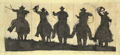 Robert Longo, 'Study For Five Cowboys', 1993