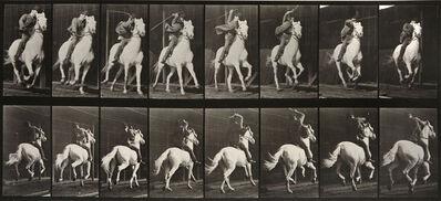 Eadweard Muybridge, 'Animal Locomotion: Plate 634 (Man Riding Galloping Horse)', 1887