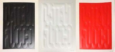 Mario Consiglio, 'Datevi Fuoco - Red Edition + White Edition + Black Edition (Set of 3)', 2016