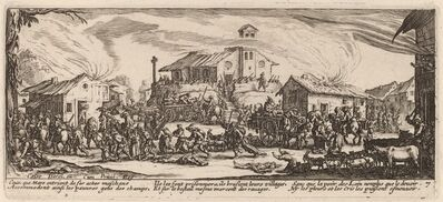 Gerrit van Schagen after Jacques Callot, 'Plundering and Burning a Village'
