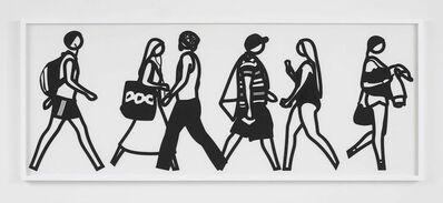 Julian Opie, 'Walking In Melbourne 3', 2018