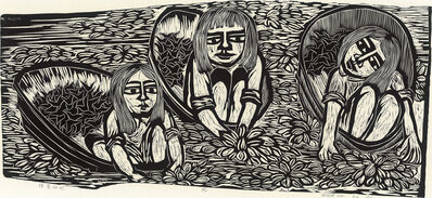 Chu Wei-Bor, 'Girls Picking Water Caltrops', 1973