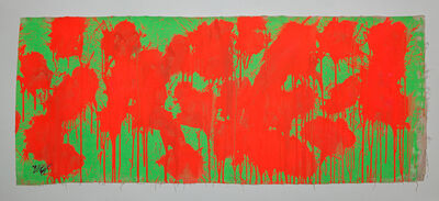 Ushio Shinohara, 'Red on Green – May 28, 2009', 2014