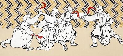 Sigrid Holmwood, 'Peasants practising fighting with sickles', 2017