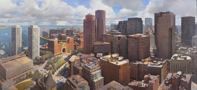 Joel Babb, 'Boston from the Custom House Tower', 2020