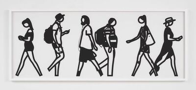 Julian Opie, 'Walking In Melbourne 6', 2018