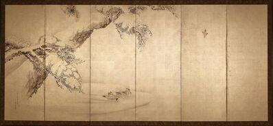 Yoshimura Kōkei, 'Ducks with Pine (1 of 12 Panels)', 1833
