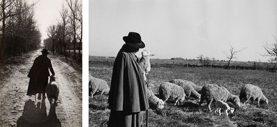 Marc Riboud, 'Untitled (Shepherd with lamb)', anni 1970