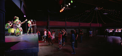 Jeff Wall, 'Band & crowd', 2011