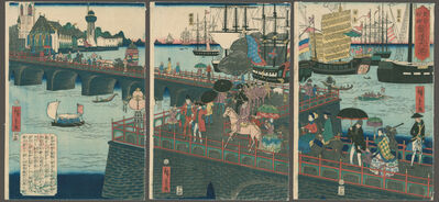 Hiroshige II, 'The Great Port of London England', 1863