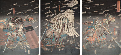 Utagawa Kuniyoshi, 'The Last Stand of the Kusunoki Clan at Shijo Nawate', ca. 1850
