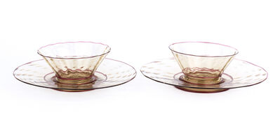 Cappellini, 'Pair of cups with saucers'