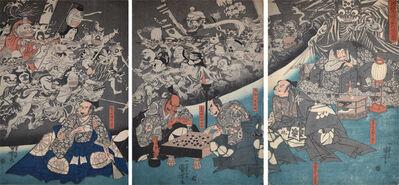 Utagawa Kuniyoshi, 'The Earth Spider Conjures Goblins at the Mansion of Minamoto no Yorimitsu (Raiko)', ca. 1842