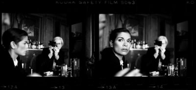 Harry Benson, 'Andy Warhol and Bianca Jagger at The Factory', 1977