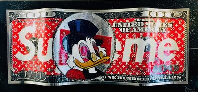 Alain Mimouni, 'Uncle Scrooge Supreme Dollar - Red - Large Size', 2019