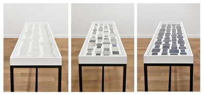 Ignasi Aballí, 'Le noir dans le journal, Le gris dans le journal, Le blanc dans le journal', 2014