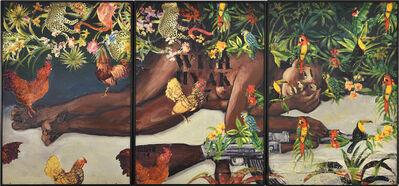 Hassan Musa, 'I love you with my AK47(D'après Gauguin), triptyque', 2019