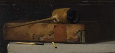 John Frederick Peto, 'Still Life with Pipe and Book', late 19th or early 20th century