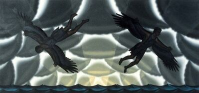 Roger Brown, 'Study for Daedalus and Icarus mural', 1989
