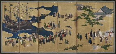 Kano Naizen, 'Southern Barbarians Come to Trade', 1600