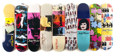 Andy Warhol, 'Set of Nine Skateboards', 2011