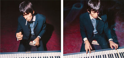 "Bent Rej, '""Keith Playing Piano II"" Keith Richards Backstage, Copenhagen 1965', 1965"