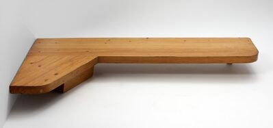 Charlotte Perriand, 'Wall Mounted Corner Writing Table With Drawer', ca. 1960