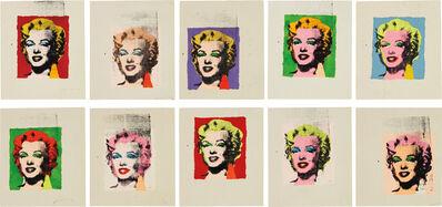 Richard Pettibone, 'Ten works: Andy Warhol 'Marilyn'', 1978