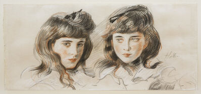 Paul César Helleu, 'Double Portrait of the Artist's Daughter Ellen.', ca. 1902-1903