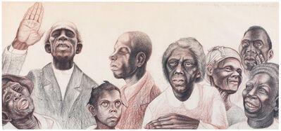 John Thomas Biggers, 'Study for The History of Negro Education in Morris County, Texas', c.1955